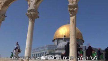 הבית מה הפיתרון הנכון למקום המקדש ובימינו