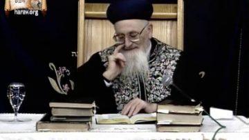 משפטים מדוע משה לא חילק את הדם הרב מרדכי אליהו