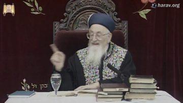 174 הלכות הפרשת חלה פרשת וישלח יד כסליו תשסא מרן