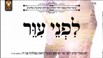 לפני עיור – שיעור תורה בספר הזהר הקדוש מפי הרב יצחק כהן שליט
