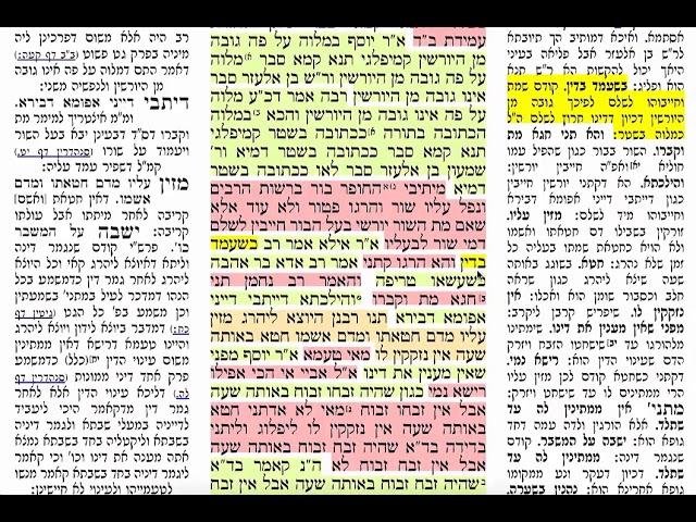 הדף היומי מסכת ערכין דף ז Daf yomi Erchin pagina7